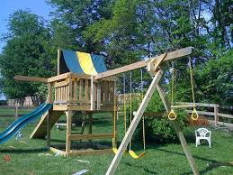 Backyard Swing Sets For Adults by Wooden Outdoor Swings Set Home Conceptor