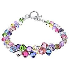 gemstone charm bracelet images Gem avenue sterling silver multicolor 7 5 inches jpg