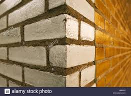 House Architectural Brick Wall Corner Of The House Architectural Feature Stock Photo
