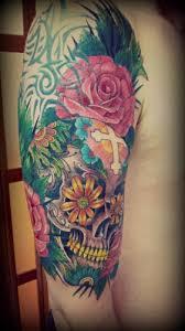 40 arm skull tattoos