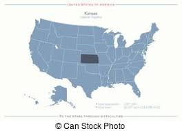 usa map kansas state kansas state map flag and name clipart vector search