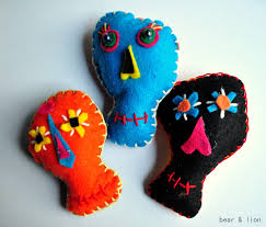 day of the dead felt craft