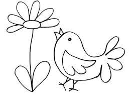 fiori disegni disegno di pulcino nei fiori da stare e colorare