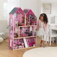 kidkraft bella wooden kids dolls house u0026 furniture fits barbie