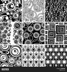 set black white retro seamless vector photo bigstock