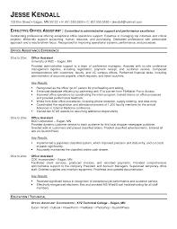 resume template for administrative assistant office resume templates administrative assistant sle for