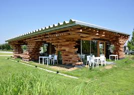 extraordinary modern café design in wood piled structure home
