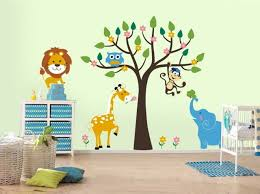chambre jungle stickers chambre jungle animaux sauvages arbre accents wall