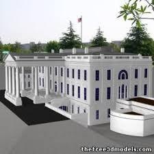 white house 3d model obj