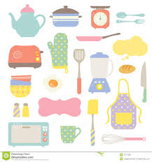 cute kitchen collection stock photography image 20774392