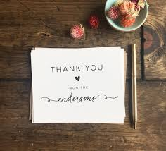 thank you card for wedding gift wedding thank you cards custom wedding cards wedding gift