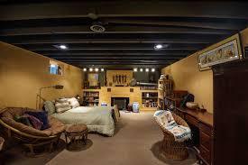 basement bedroom unfinished ceiling glamorous decor ideas