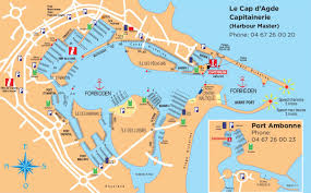 Map Of France Cities by Cap D U0027agde Port Map