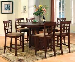 bar height dining table set black leather counter height dining