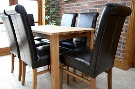 Leather Dining Room Chairs Design Ideas Red Leather Dining Table Chairs Design Ideas With Solid Oak