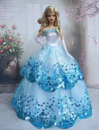 free shipping blue dress party clothes gown skirt