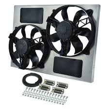 electric radiator fans and shrouds derale performance 16833 dual electric radiator fan with aluminum