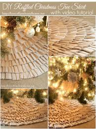 Christmas Tree Skirts Walmart No Sew Ruffle Tree Skirt With Video Tutorial Love Of Family U0026 Home