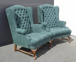 Patterned Armchair Design Ideas Chairs Tufted Wingback Chair Tall Comfortable Cheap With Ottoman