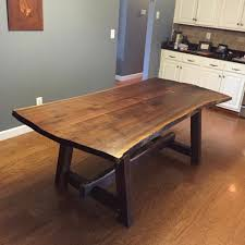 Dining Room Table Design Walnut Live Edge Table K Heaton Design Great Designs