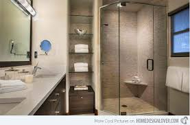 Glass Shelving For Bathrooms 15 Bathroom Spaces With Glass Shelving Home Design Lover
