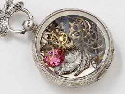 antique sterling silver necklace images Antique sterling silver pocket watch case necklace hand engraved jpg