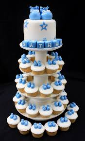 baby boy cupcake tower cakes pinterest boys cupcakes tower