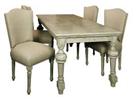 Distressed Dining Set Dining Table Upholstered Chairs Lakecountrykeys Com