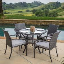 kadelyn outdoor 5pc grey wicker dining set dining sets outdoor