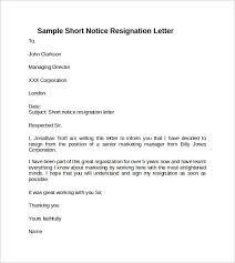 2 weeks notice example letters sample of resignation letter 2016
