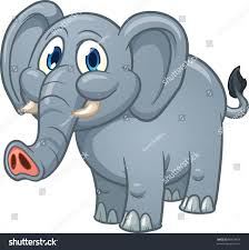 cute cartoon elephant vector illustration simple stock vector