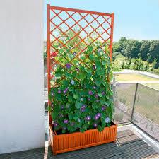 sichtschutz balkon holz sichtschutz rankgitter guernsey mit pflanzkasten gärtner