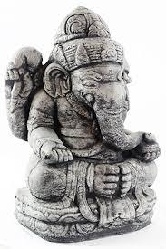seated ganesh concrete garden statue cement hindu