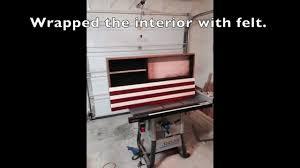 Wall Mounted Gun Safe American Flag Concealed Gun Cabinet Youtube