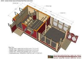 Floor Plans For Sheds by Home Garden Plans Cb202 Combo Plans Chicken Coop Plans