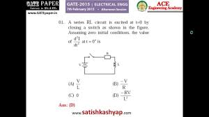 gate 2015 eee question paper with answer key 7th feb afternoon
