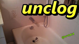 How To Unclog A Bathtub Drain Full Of Hair Bathtubs Fascinating Unclog Bathtub Drain With Snake 131 Drain