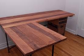 building an l shaped desk build reclaimed wood l shaped desk