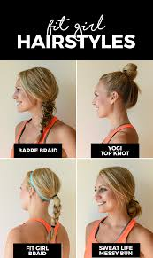 Simple Girls Hairstyles by Fashion Meets Fitness With Four Of Our Favorite Fit