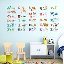 Wall Decals Amazon by Amazon Com Decowall Dw 1308 Alphabet U0026 Animals Wall Stickers
