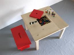 Ikea Rangement Enfant by Cuisine Table Enfant En Bois Avec Son Petit Banc Rouge Et Casier
