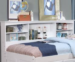 full size bookcase captains day bed in white 0223 day beds