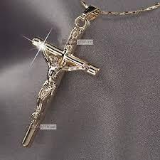 cross jesus necklace images 18k rose gold gf jesus cross crucifix classic pendant free jpg