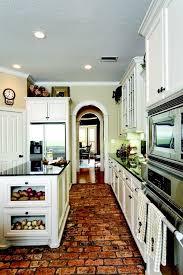 Kitchen Floor Ideas With White Cabinets Best 25 Brick Floor Kitchen Ideas On Pinterest Wood Cabinets
