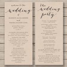 order wedding programs online wedding program template printable diy editable order of service