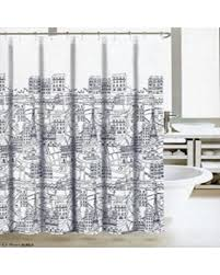 Cloth Shower Curtains Black Friday Special Nicole Miller Fabric Shower Curtain Ash Grey