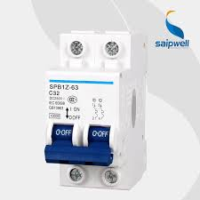 wholesale saipwell 2 pole 440v 63a miniature mcb electrical