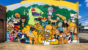 buzzing about murals montrose edition the buzz magazines the ultimate 90s cartoon characters mural wall by al win link is external photo jordan miller mandel