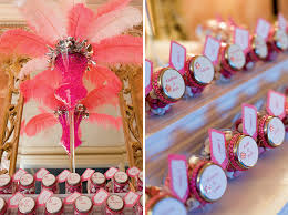 Table Decorations With Feathers Pink Bat Mitzvah Table Numbers Candy Feathers The Celebration