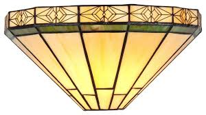 belle tiffany style 1 light mission wall sconce 12
